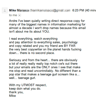 Copywriter Mike